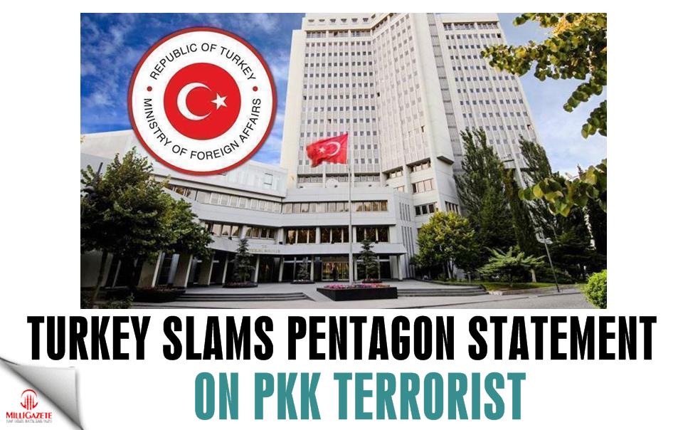 Turkey slams Pentagon statement on PKK terrorist