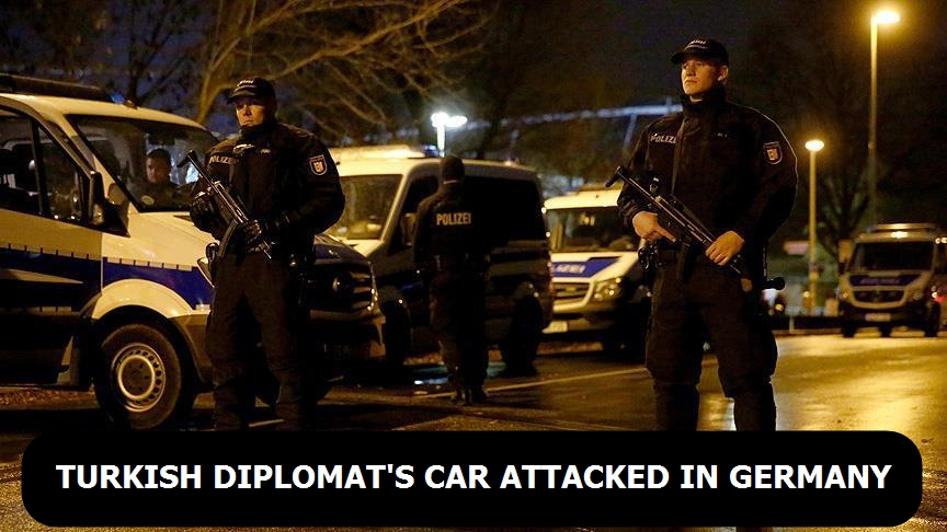 Turkish diplomat's car attacked in Germany