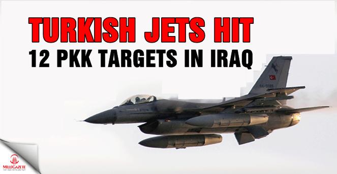 Turkish jets hit 12 PKK targets in Iraq