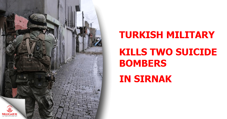 Turkish military kills two suicide bombers in Sirnak