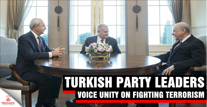 Turkish party leaders voice unity on fighting terrorism