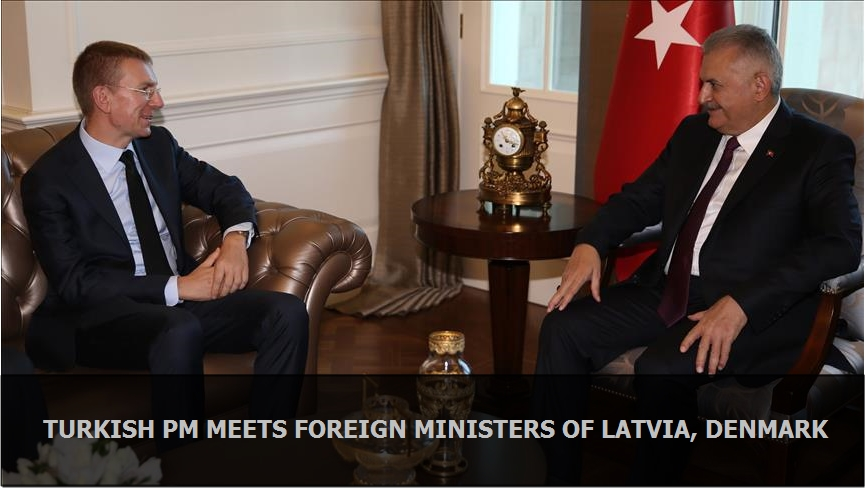 Turkish PM meets foreign ministers of Latvia, Denmark
