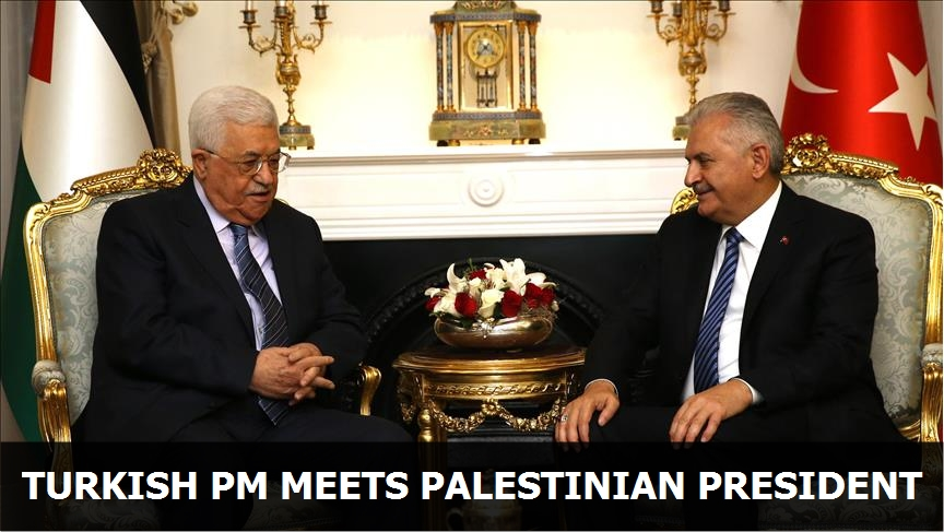 Turkish PM meets Palestinian president