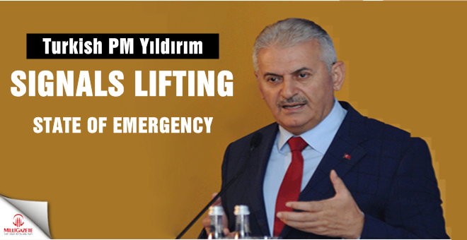 Turkish PM signals lifting of state of emergency