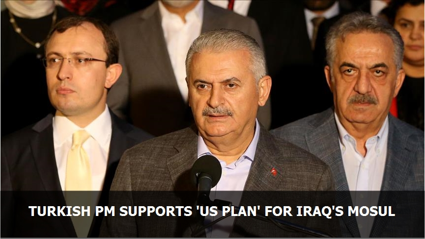 Turkish PM supports 'US plan' for Iraq's Mosul