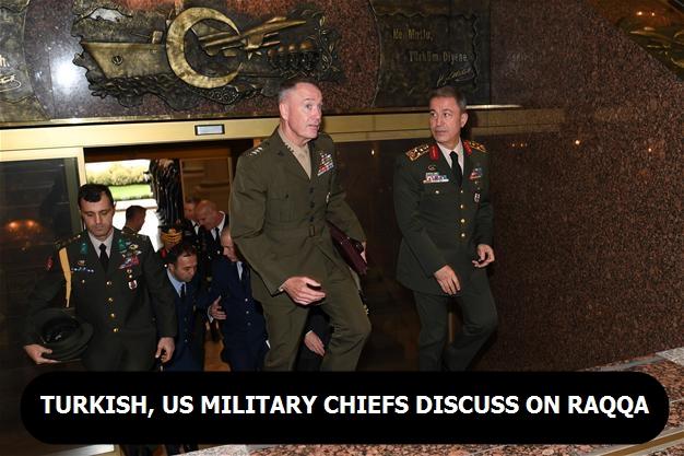 Turkish, US military chiefs discuss on Raqqa