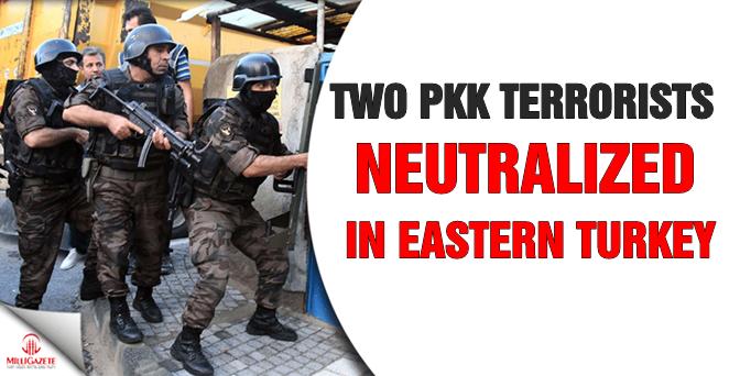 Two PKK terrorists 'neutralized' in eastern Turkey