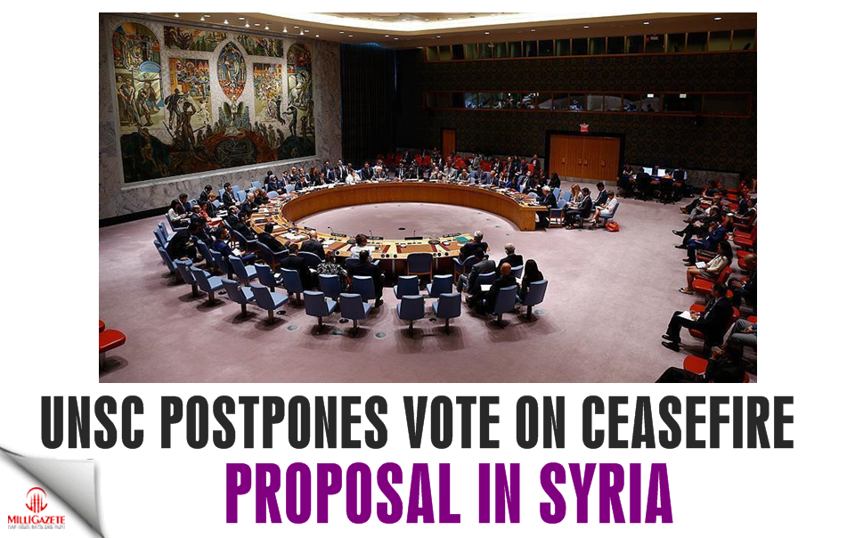 UNSC postpones vote on ceasefire proposal in Syria