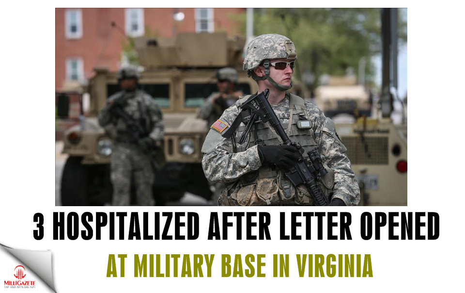 US: 3 hospitalized after letter opened at military base
