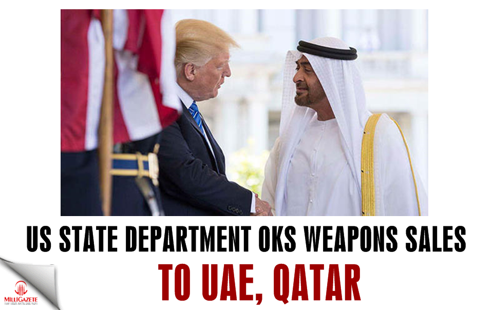 US State Department OKs weapons sales to UAE, Qatar