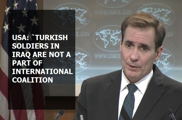 """USA: """"Turkish soldiers in Iraq are not a part of international coalition"""""""