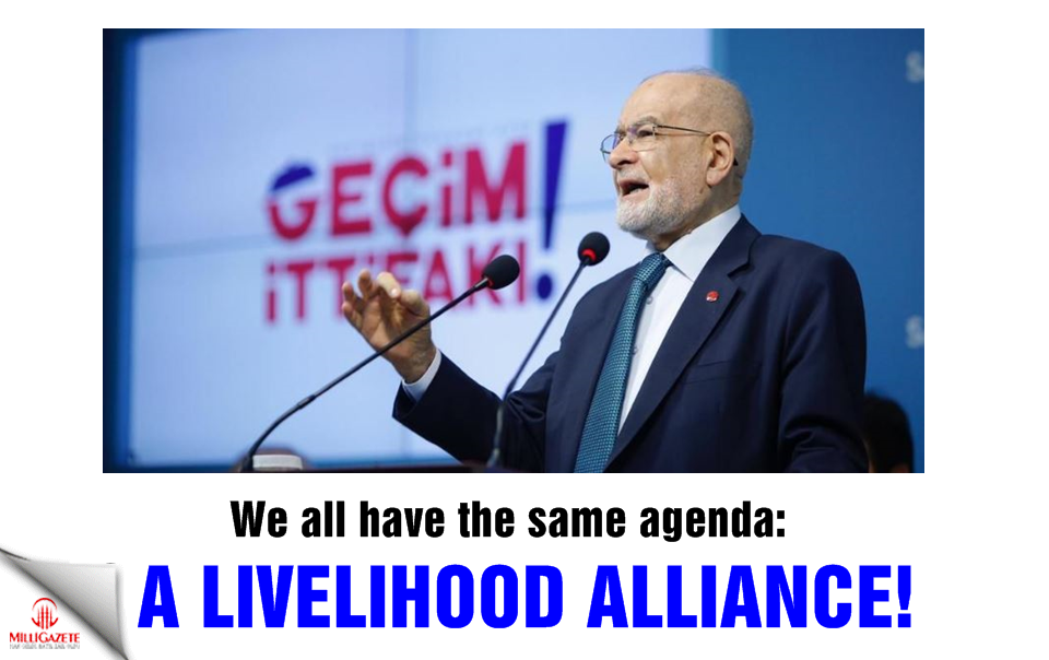 We all have the same agenda: