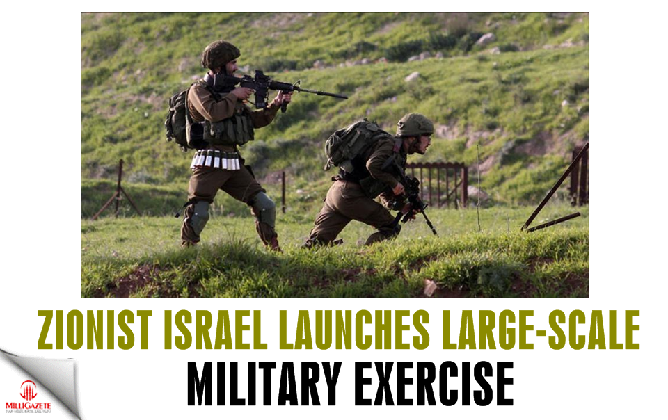 Zionist Israel launches large-scale military exercise