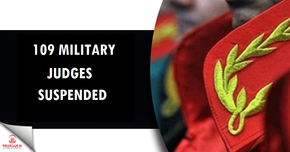 109 Military judges suspended