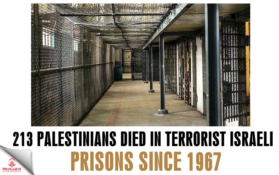 213 Palestinians died in terrorist Israeli prisons since 1967