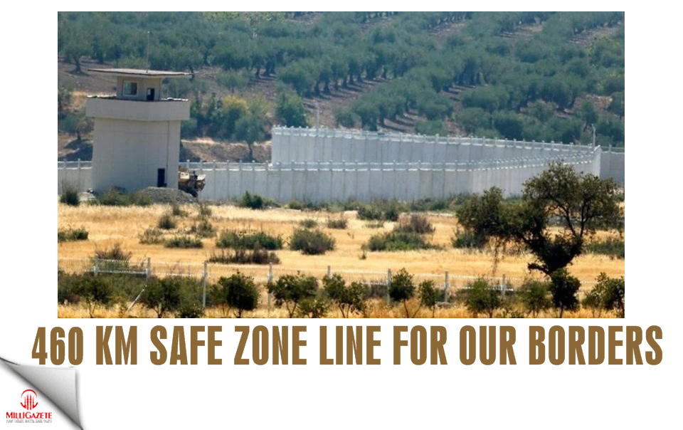 460 km safe zone line for our borders