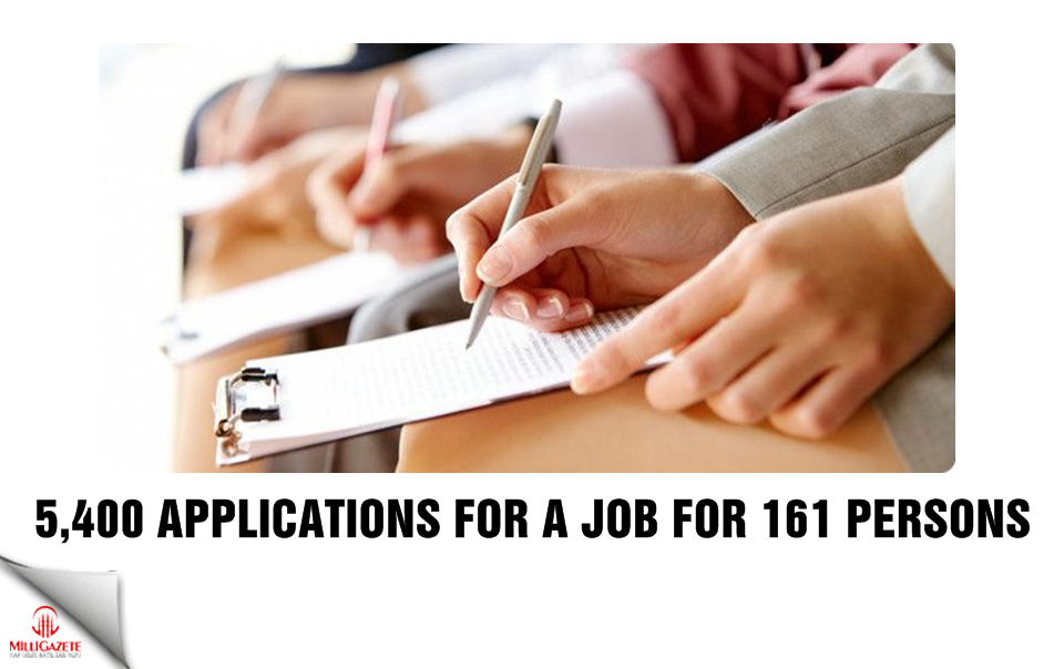 5,400 applications for a job for 161 persons