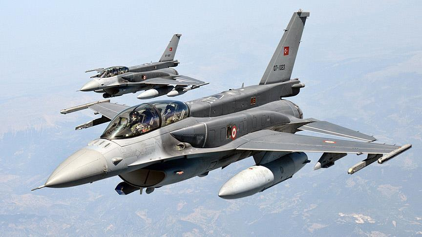 Turkish jets hit 10 Daesh targets in northern Syria