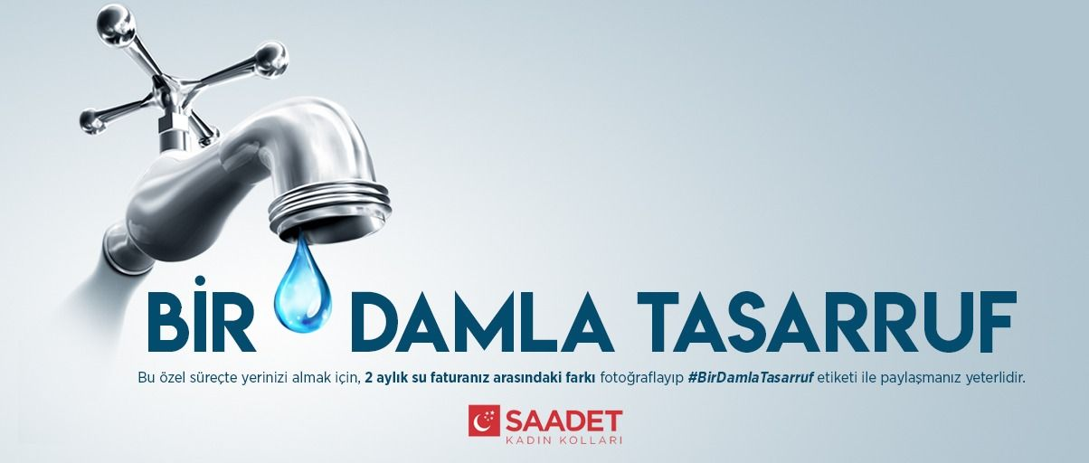 """""""A drop of savings"""" from Saadet Party Womens Branch"""