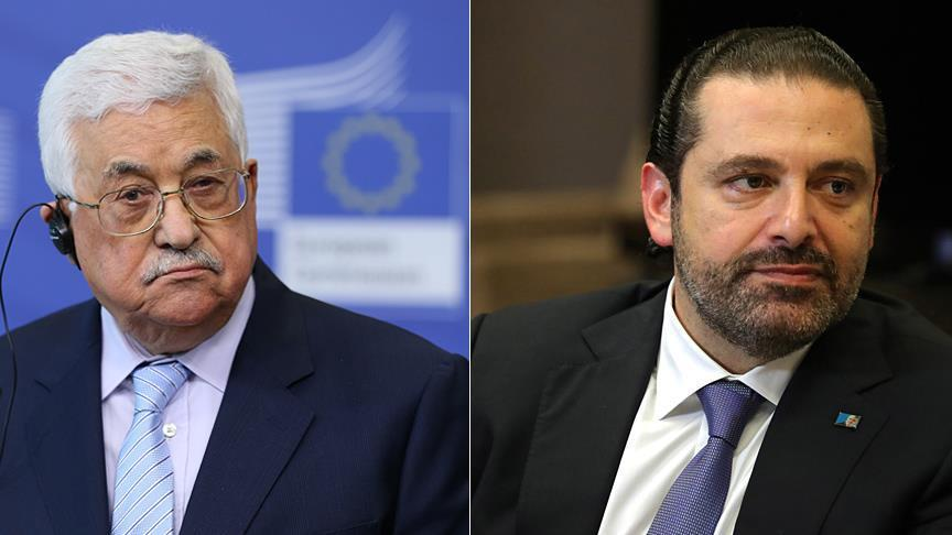 Abbas holds talks with resigned Lebanese PM over phone