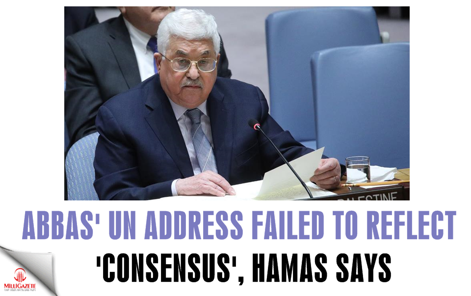 Abbas UN address failed to reflect consensus: Hamas