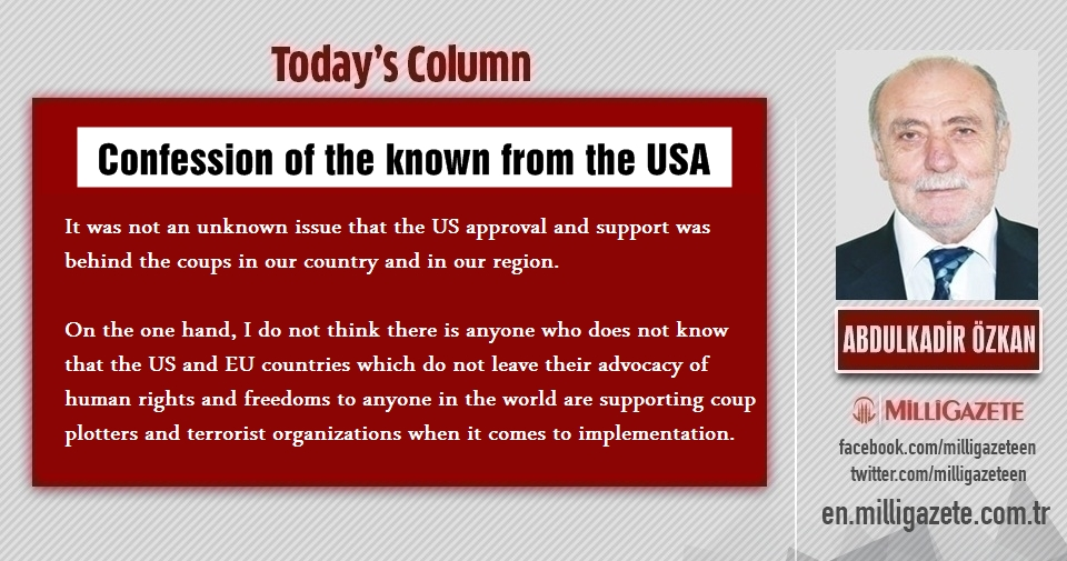 """Abdulkadir Özkan: """"Confession of the known from the USA"""""""