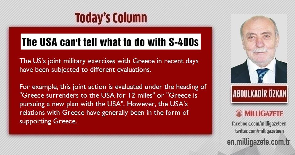 "Abdulkadir Özkan: ""The USA cant tell what to do with S-400s"""