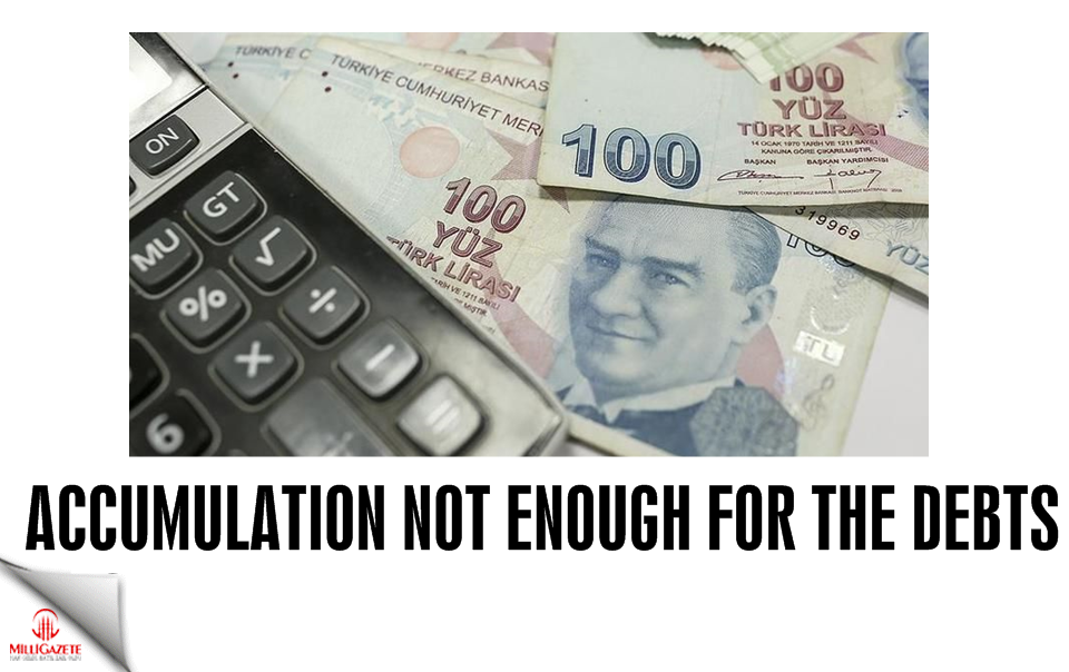 Accumulation not enough for the debts
