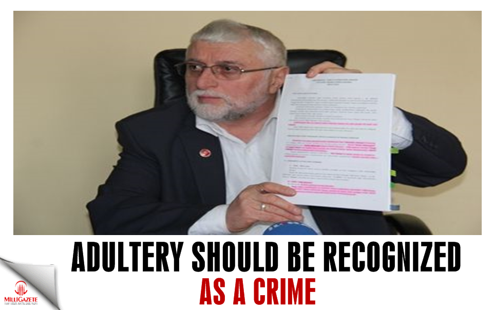 Adultery should be recognized as a crime!