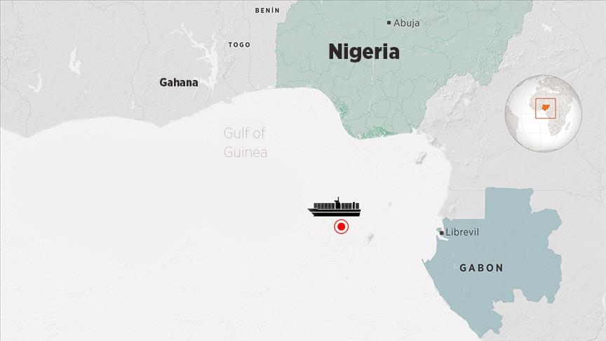 After pirate attack, ship with Turkish crew at port in Gabon