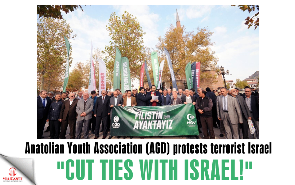 "AGD Ankara Branch protests terrorist Israel: ""Cut ties with Israel"""