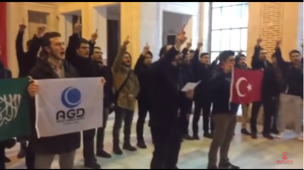 AGD performs Salawat March in Istanbul University