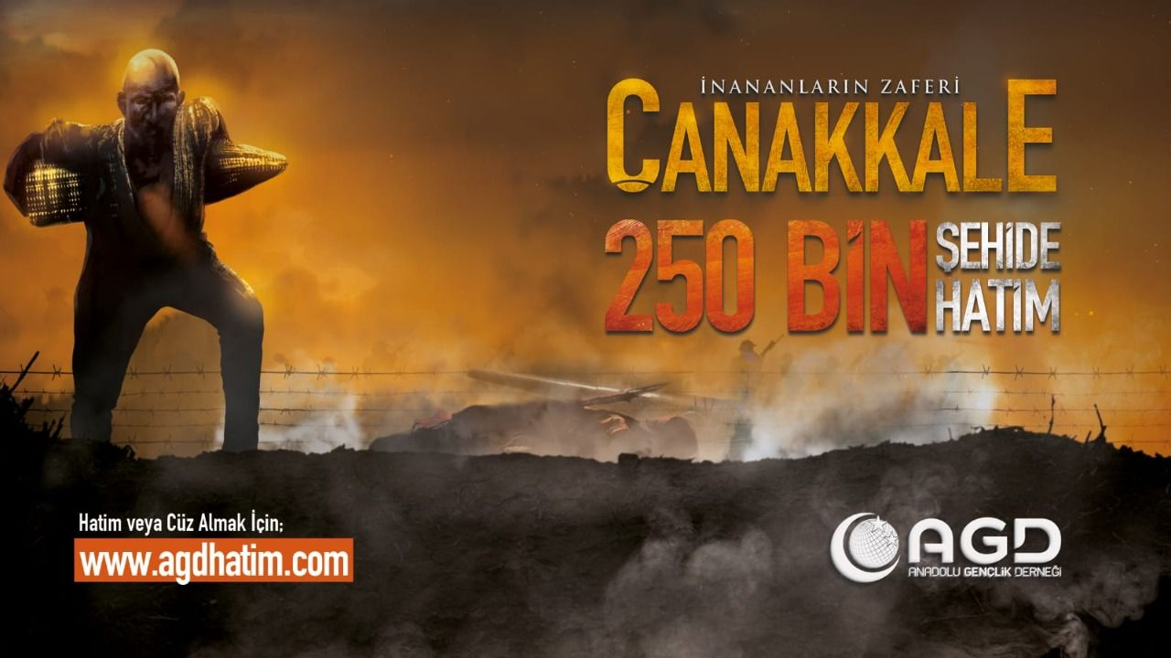AGD to commemorate Çanakkale martyrs with 250 thousand hatims
