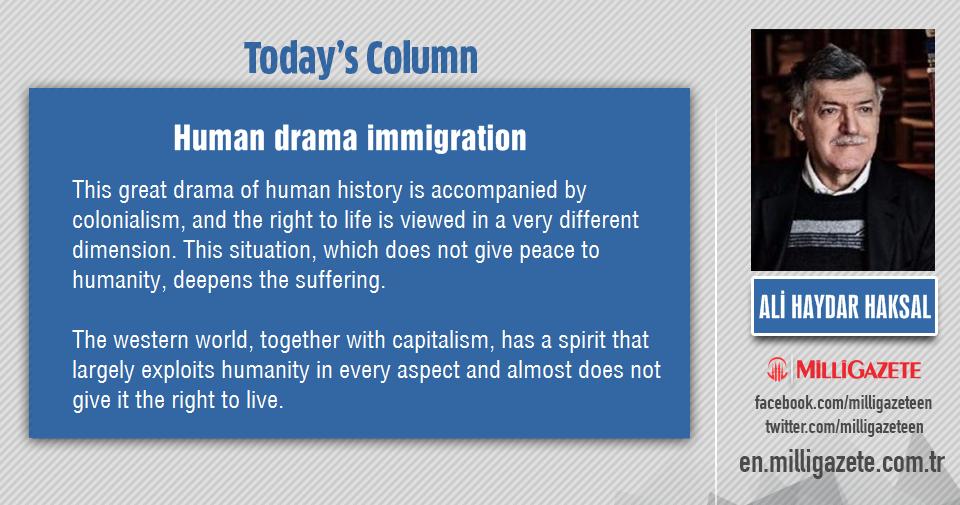 "Ali Haydar Haksal: ""Human drama immigration"""