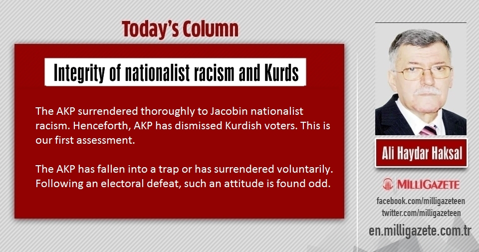 "Ali Haydar Haksal: ""Integrity of nationalist racism and Kurds"""