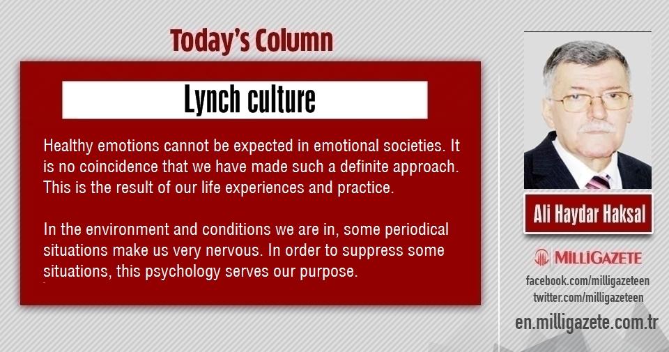 "Ali Haydar Haksal: ""Lynch culture"""