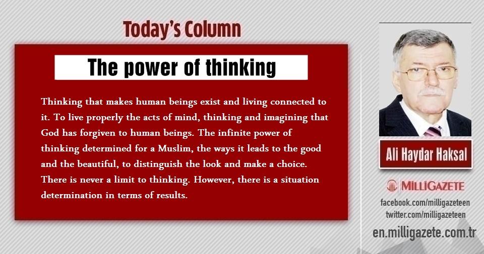"Ali Haydar Haksal: ""The power of thinking"""