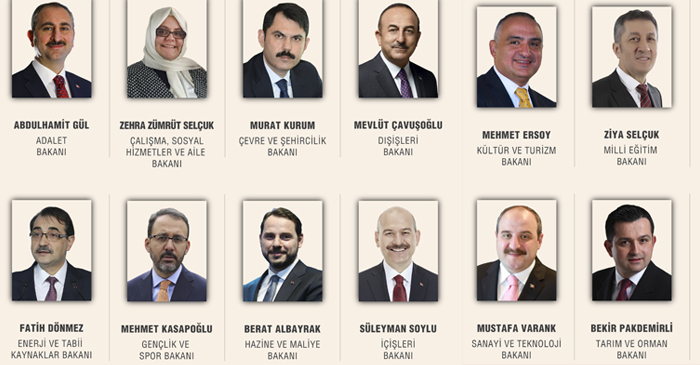 All you need to know about new cabinet in Turkey