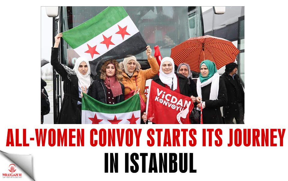 All-women convoy starts its journey in Istanbul