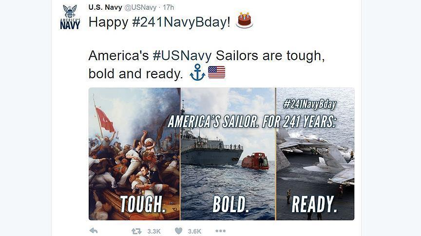 Anger greets US Navy's Ottoman tweet