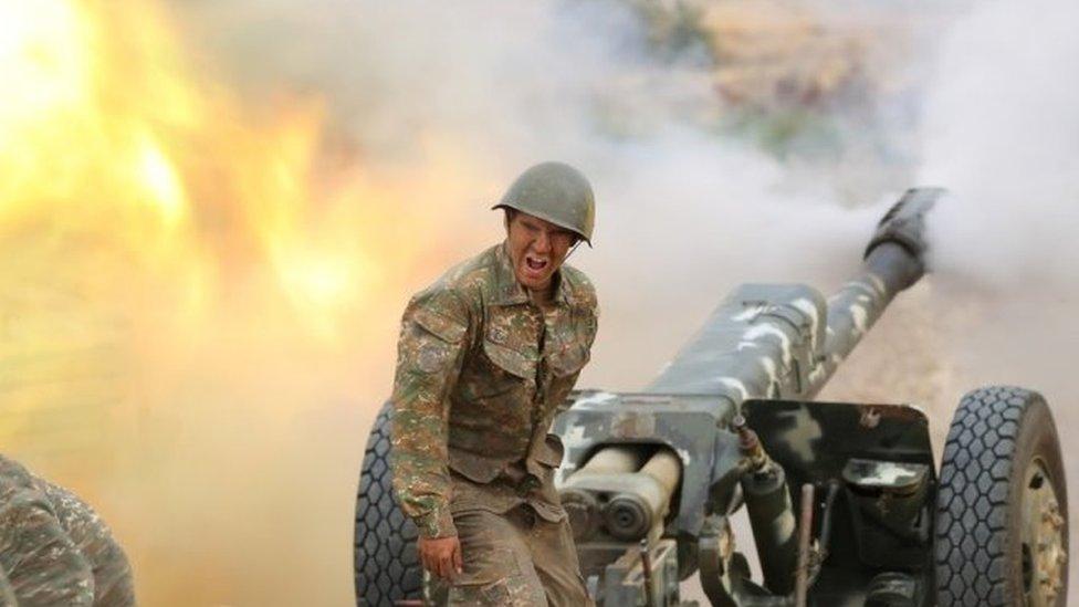 Armenian Army attacks civilians, Azerbaijan Defense Ministry says