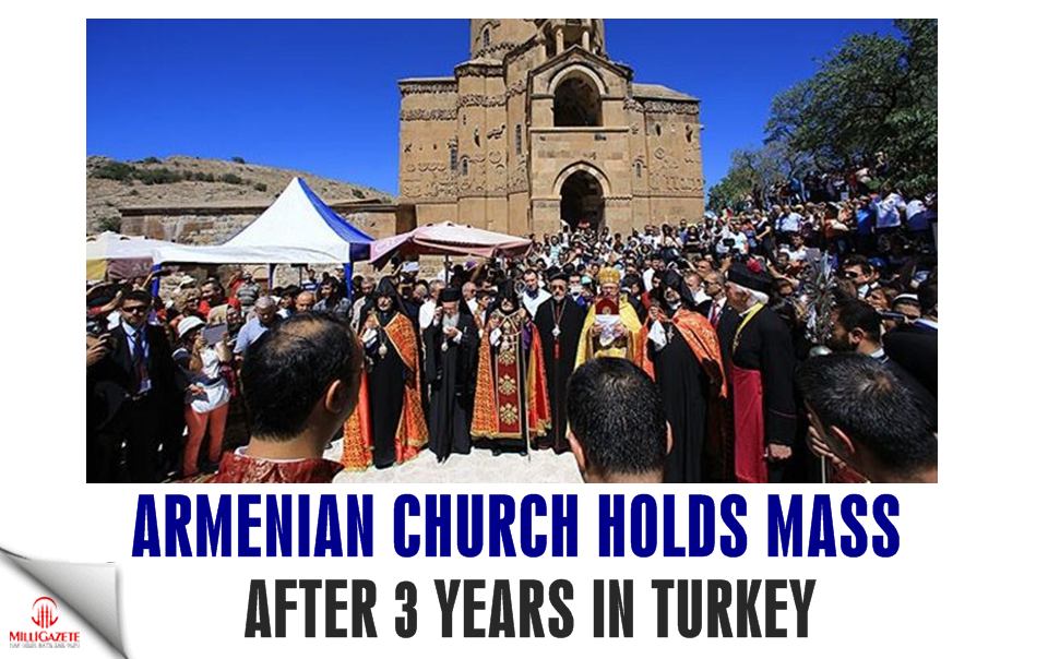 Armenian church holds mass after 3 years in Turkey