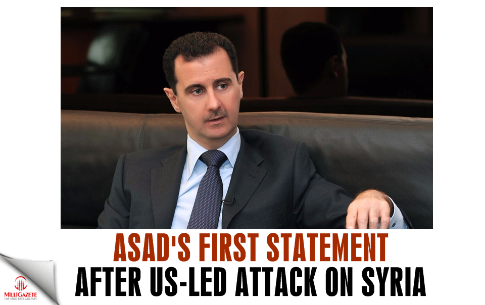 Asads first statement after US-led attack on Syria!