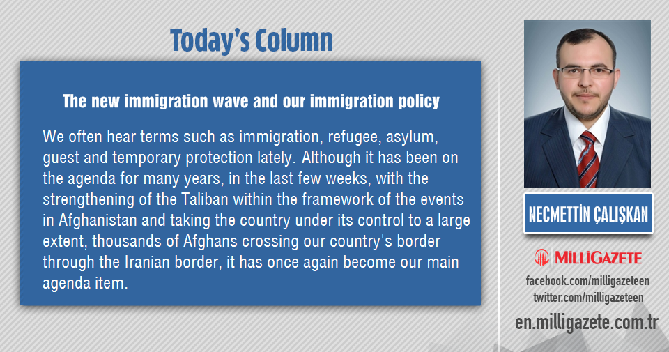 """Assoc. Dr. Necmettin Caliskan: """"The new immigration wave and our immigration policy"""""""