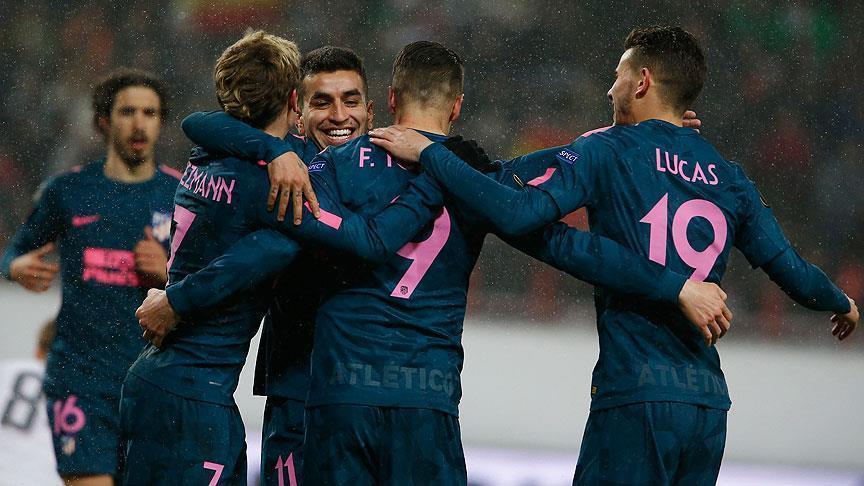 Atletico Madrid claim Europa League quarter finals