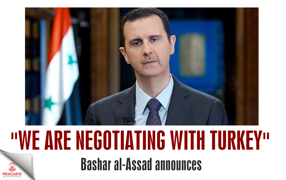 "Bashar al-Assad announces: ""We are negotiating with Turkey"""