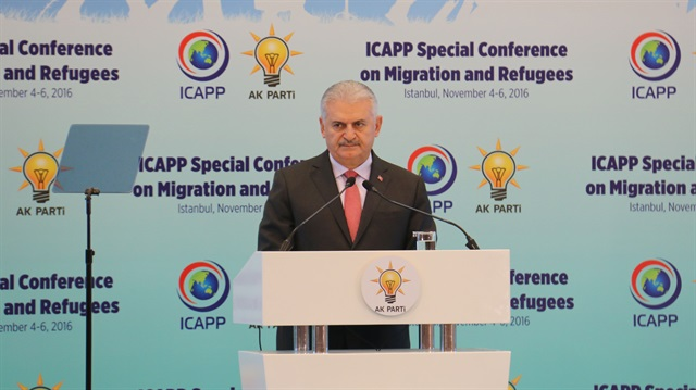 Binali Yildirim summons for international support for relocated people