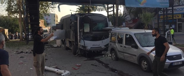 Bomb attack on police service vehicle in Turkeys Adana
