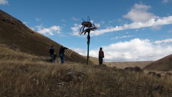 Caucasian Bee Sculpture has produced six kilograms of honey