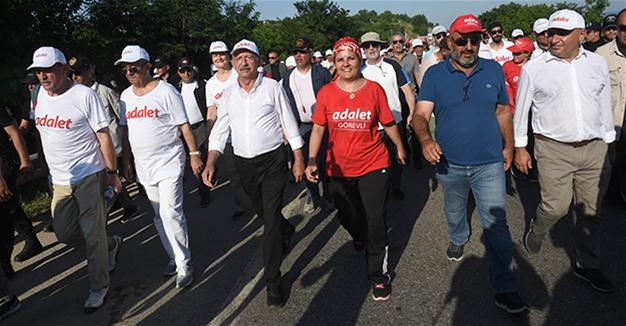 CHP leader warns of provocations as justice march nears Istanbul
